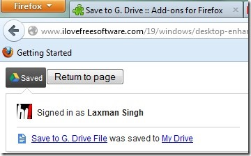 Save To G. Drive- save online files