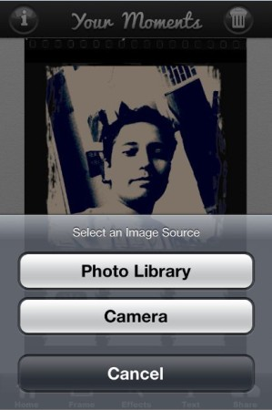 YourMoments-add photo from library or click from camera-Photo collage for Instagram