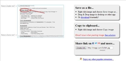 Save and share screenshot