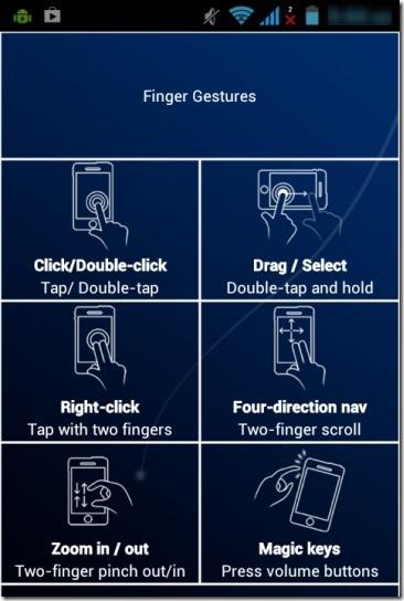 SmartMouse- finger gestures