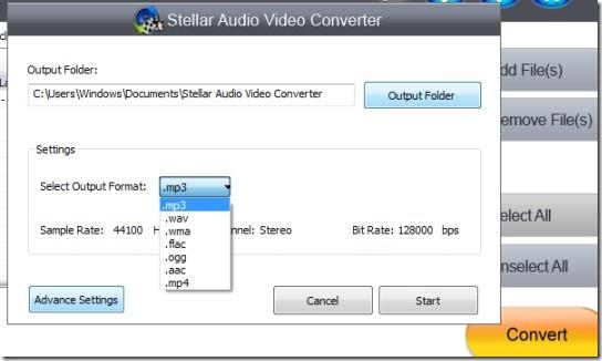Stellar Audio Video Converter_convert audio 02 free audio video converter