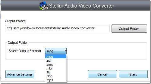 Stellar Audio Video Converter_convert video 03 free audio video converter