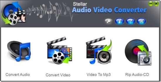 Stellar Audio Video Converter_main interface 01 free audio video converter