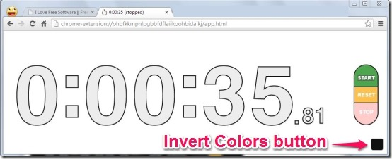 Stopwatch invert colors