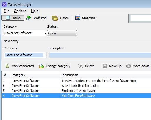 Task Manager adding tasks