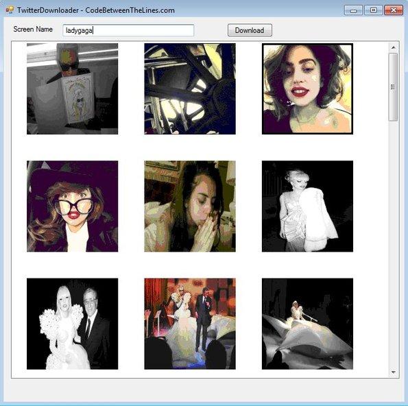 Twitter Image Downloader downloaded images