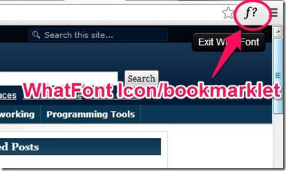 WhatFont icon