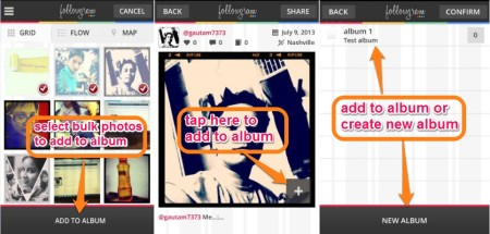 Followgram-add to albums-display Instagram photos