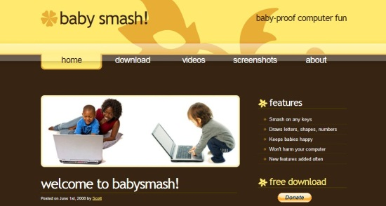 babysmash! interface