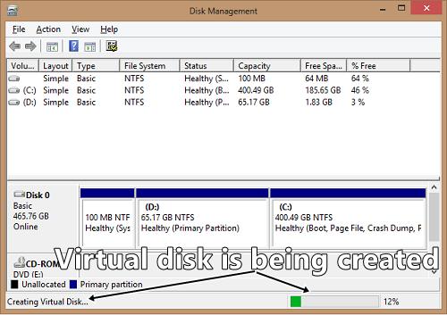 creating virtual disk
