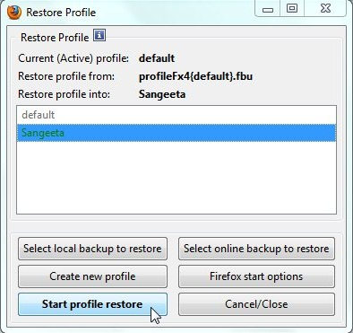 febe profile restore