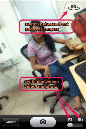 PostUno-switch camera and modes-Post To Multiple Social Networks