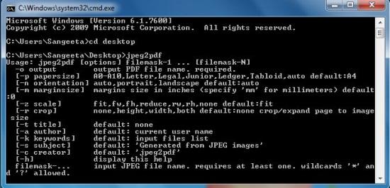 jpeg2pdf interface