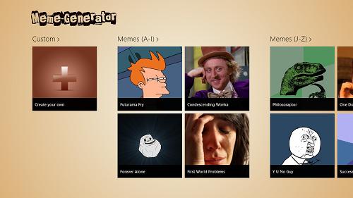 meme gen home screen