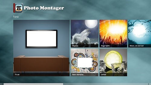 photo montager main screen