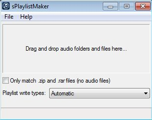 sPlaylistMaker default window