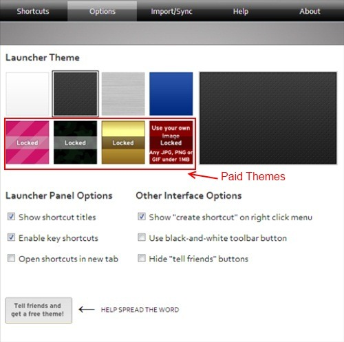 Site Launcher Themes