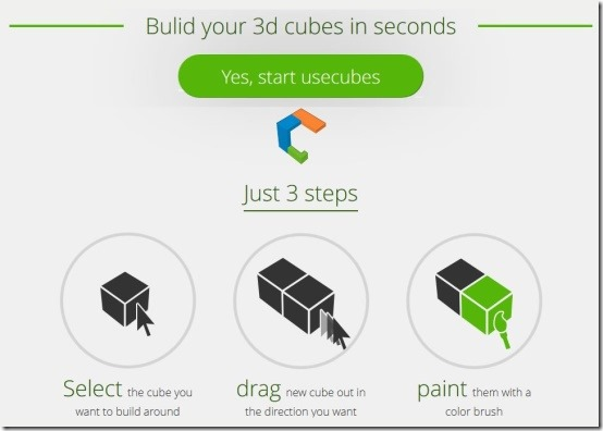 usecubes start interface