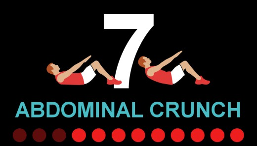 7Min- abdominal crunch exercise