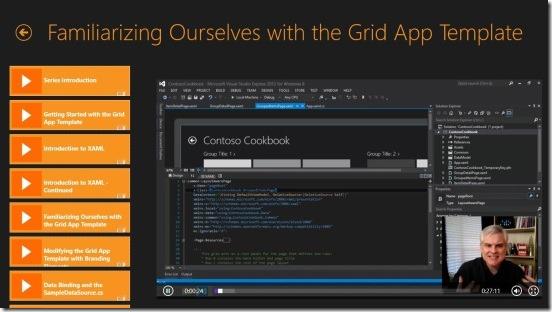 AppDev Traning Videos-tutorial screen
