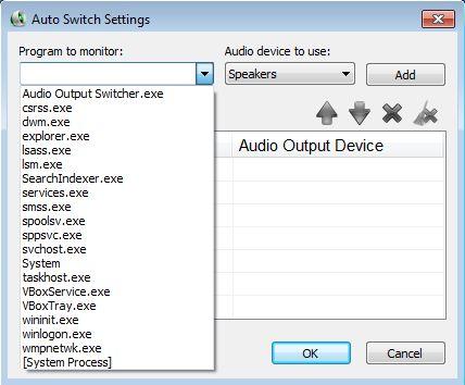 Audio Output Switcher auto out