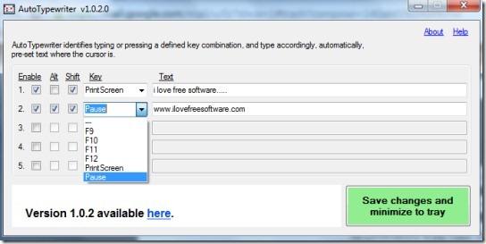 AutoTypewriter- interface 00 auto type text