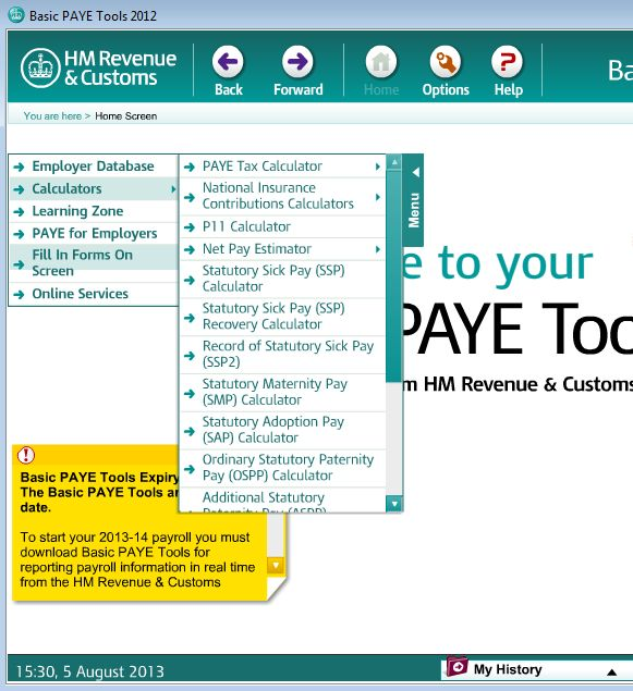 Basic PAYE Tools calculations tax