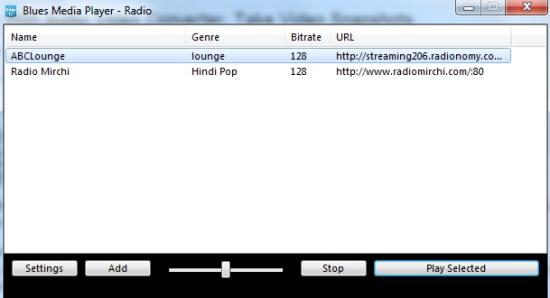 Blues Media Player- radio