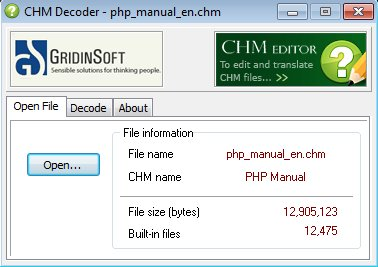 CHM Decoder default window