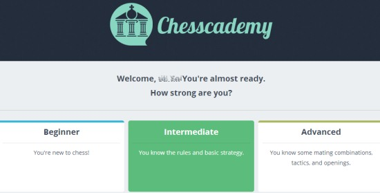 Chesscademy.com- select a course