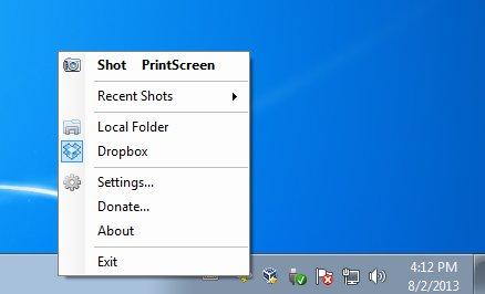 CloudShot default window