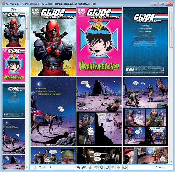 Comic Book Archive Reader default window