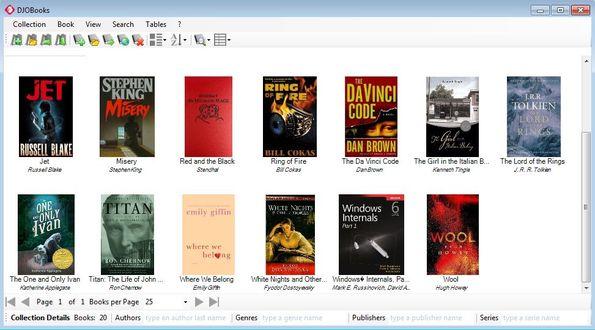 DJOBooks default window