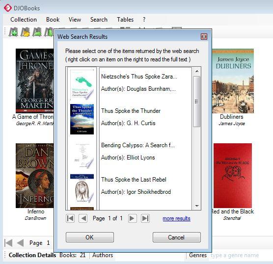 DJOBooks web search working
