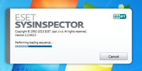 ESET SysInspector scan working