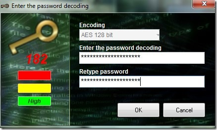 Encoding Decoding- enter password for decoding encrypted file