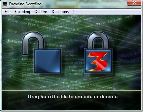 Encoding Decoding- interface 00 encrypt decrypt file