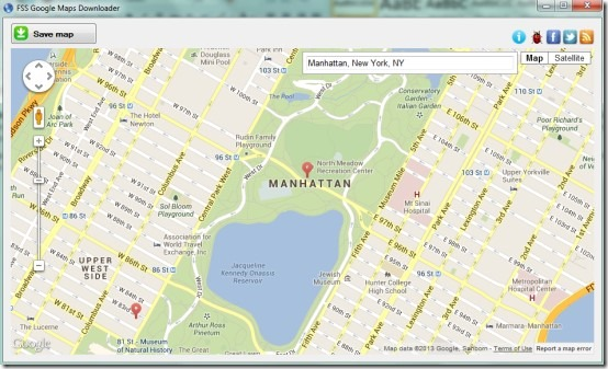 FSS Google Maps Downloader- interface 00 save Google Maps image