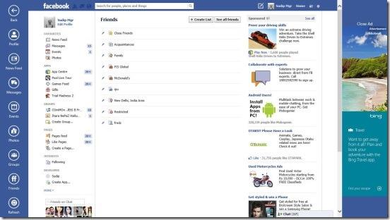 Facebook Browser - friends