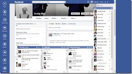 Facebook Browser - profile