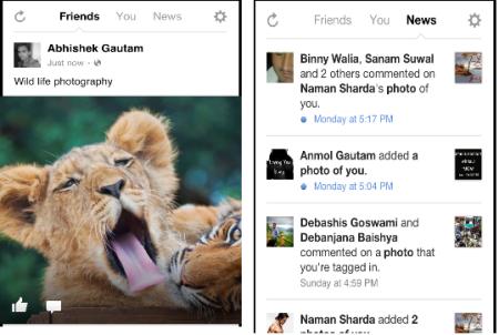 Facebook Camera- get live feeds
