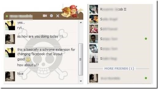 Facebook Chat Layout