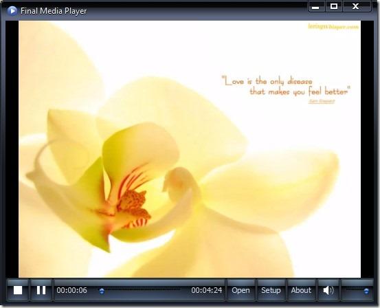 Final Media Player- interface