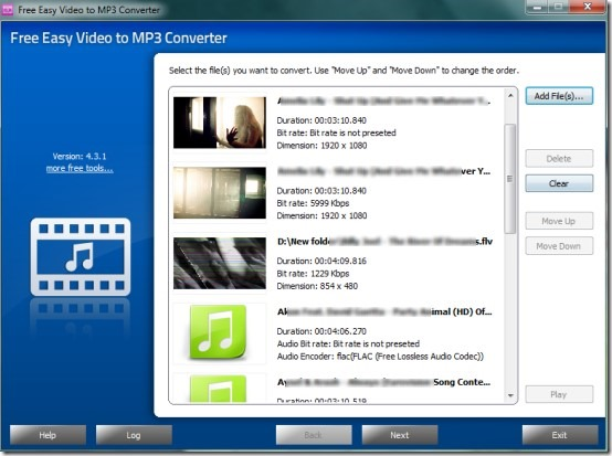 Free Easy Video to MP3 Converter- interface