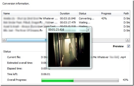 Free Easy Video to MP3 Converter- live preview for output video