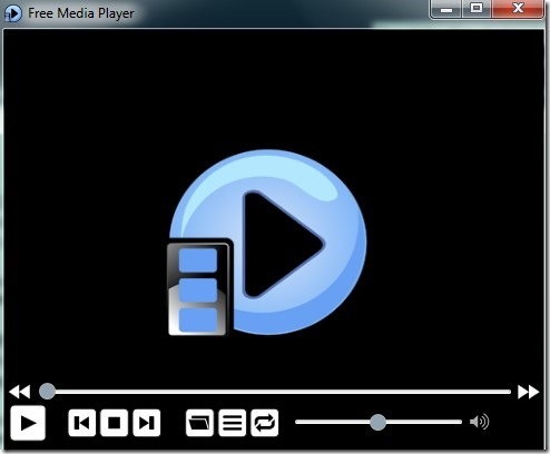 Free Media Player- interface