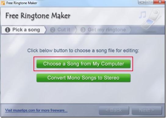Free Ringtone Maker- main interface