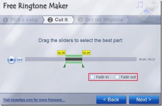 Free Ringtone Maker- select best part for ringtone