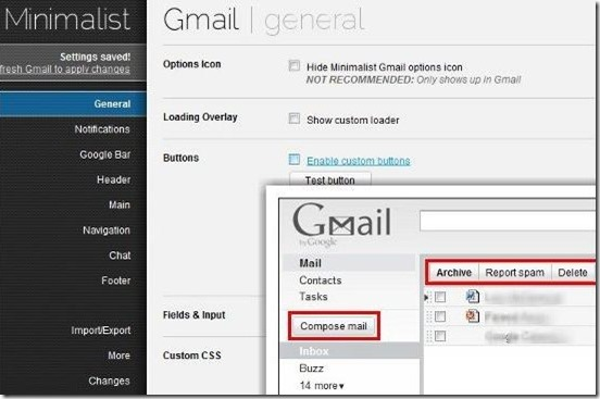 Gmail Minimalist