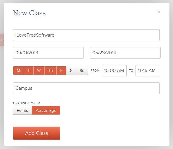 Grades adding new class